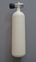 Diving bottle 2 litre 300bar complete with valve white
