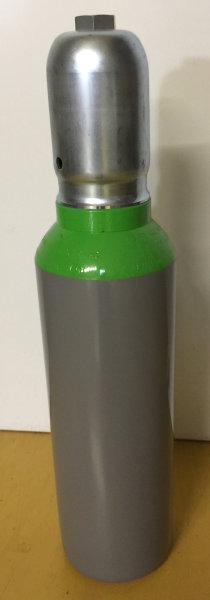 """Pressluftflasche 5 Liter 300bar mit Ventil G5/8"""" Anschluss Druckluft nach DIN, Schutzkappe"""