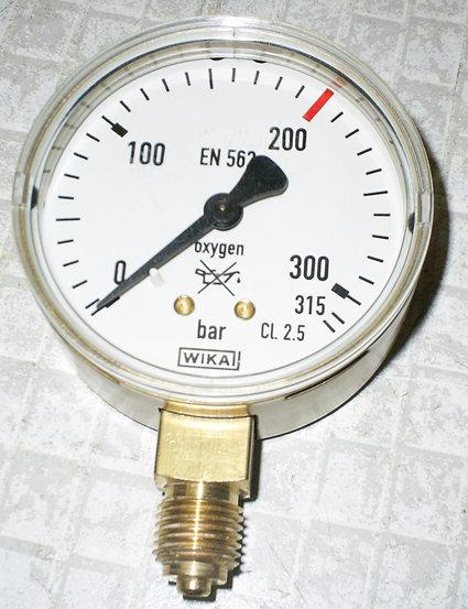 manometer for oxygen cl. 2.5, 0...315 bar