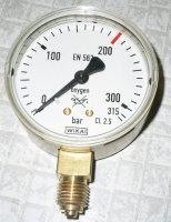 Manometer Sauerstoff Genauigkeitsklasse 2.5 Durchmesser 63mm Anzeige 0...315/400 bar