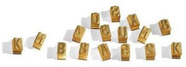 Buchstaben und Nummern 20mm hoch, zum Brennstempel