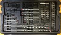 Bohrer und Bitsortiment mit 204 Teilen im Kunstoffkoffer