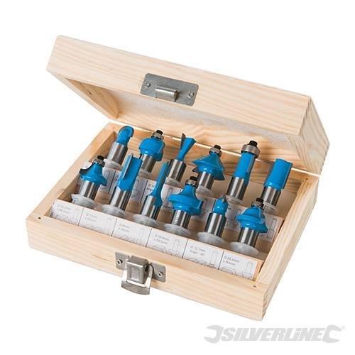 Hartmetalfräsersatz für Oberfräsen mit 12 mm Schaft