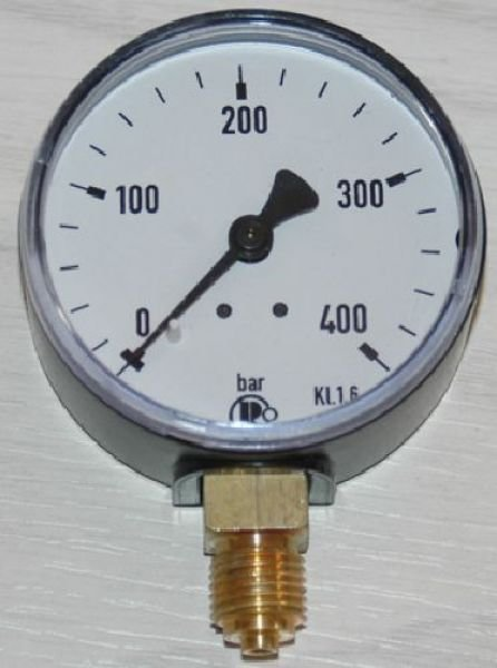 manometer class 2.5, 0...400 bar