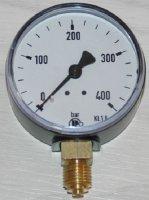 Manometer für Druckluft Anzeige  0...400bar Kl. 2.5,...