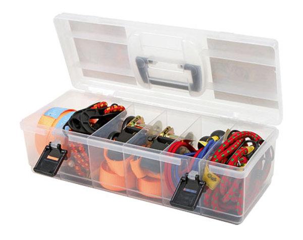 16-teiliges Set Spanngurte und Expanderseile mit Transportbox zur Ladungssicherung